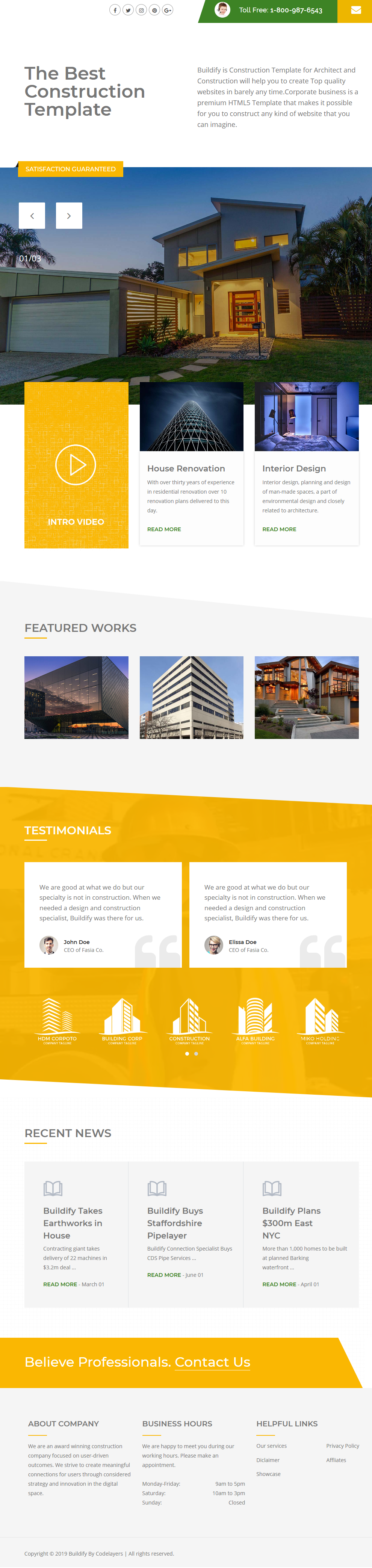 Buildify - Construction / Industry / Factory Joomla Template With Page Builder - 2